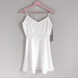Lovers + Friends White Embroidered Mini Dress XS